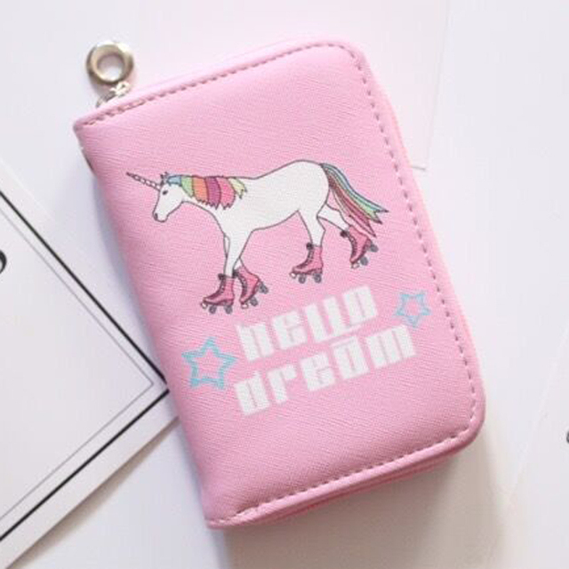 Unicorns Girls Wallet Zipper Cute