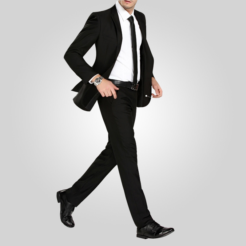 New 2016 Autumn men s trousers Straight office casual men suit pants easy  care slim England style dress pants-in Suit Pants from Men s Clothing   ... 2a55d98b6ec6