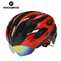 ROCKBROS High Quality Integrally Molded Cycling Helmet Sunglasses Road Bike Helmet MTB Bicycle Helmet With 3