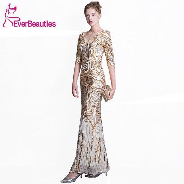 Mermaid Evening Dresses Robe De Soiree 2018 Long Sequins Evening ...