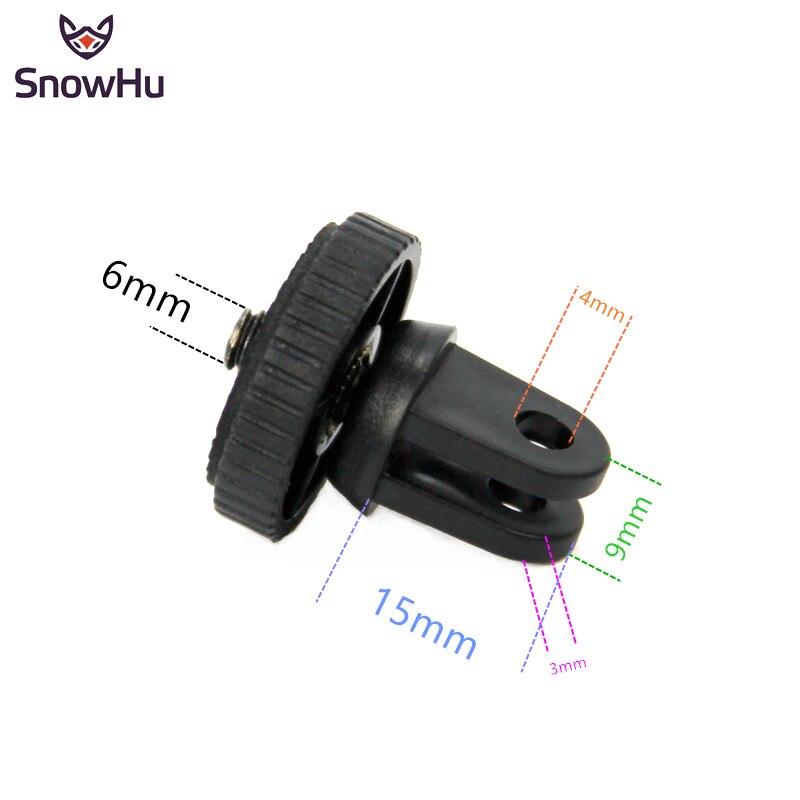 SnowHu For Mini Tripod Mount Adaptor/adapter Screw For Gopro Hero 8 7 6 5 4 SJcam For Xiaomi Yi 4K For Sjcam Yi Camera GP60B