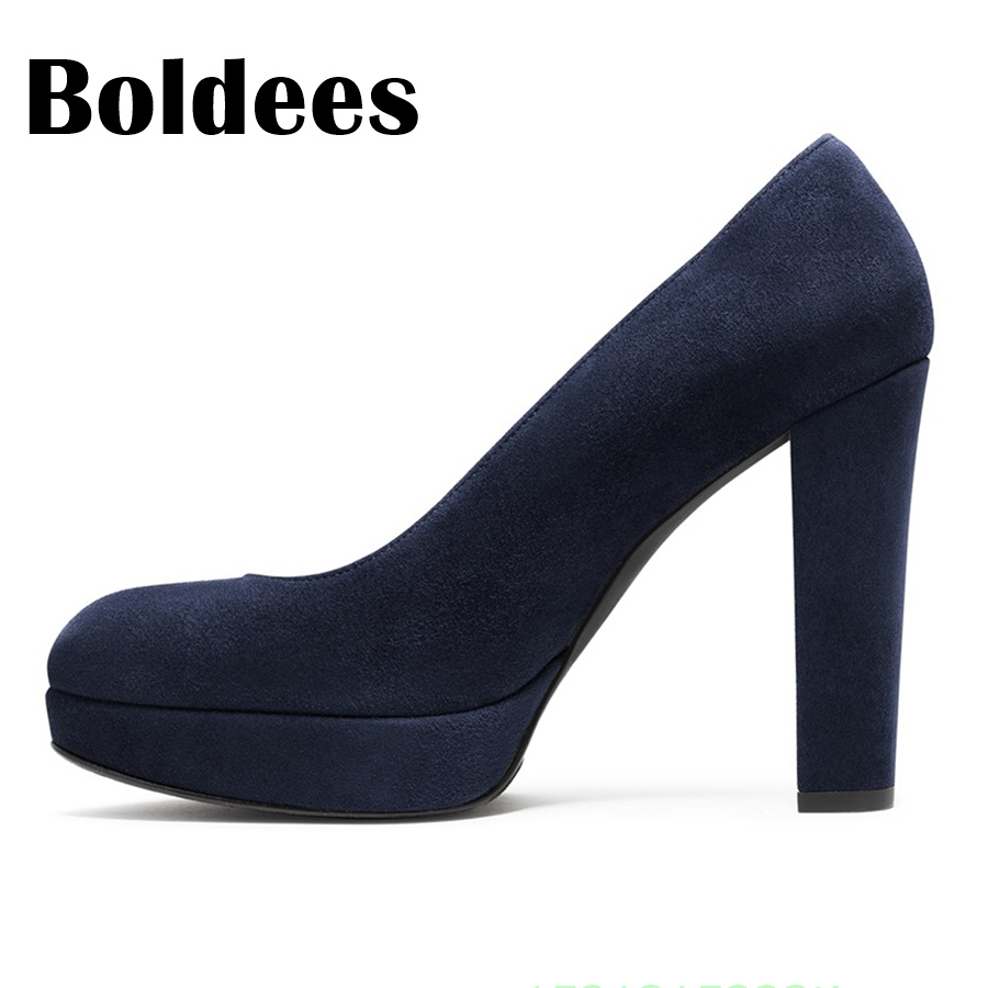Boldee 2018 платформа круглый носок кусок на высоком каблуке Женская обувь пикантные Высокие каблуки Офисные женские туфли для свиданий вечерние свадебные Насосы женская обувь - 5