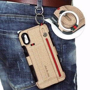 Image 5 - כבד החובה הגנת טלפון מקרה עבור iphone xs max xr 8 7 6 5 6S בתוספת אנטי שריטה ארנק caseCard כיס אצבע טבעת כיסוי