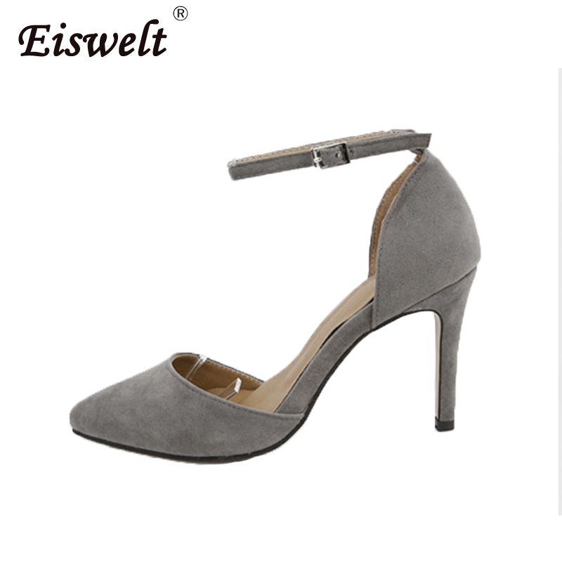 EISWELT Woman High Heels Pumps Pointed Toe Nude High Heels Women Shoes High Heels Wedding Shoes Pumps Red Nude Shoes Heels women shoes high heels pumps red high heels women shoes party wedding shoes pumps black nude red heels plus size 43 44 ljx06 c10
