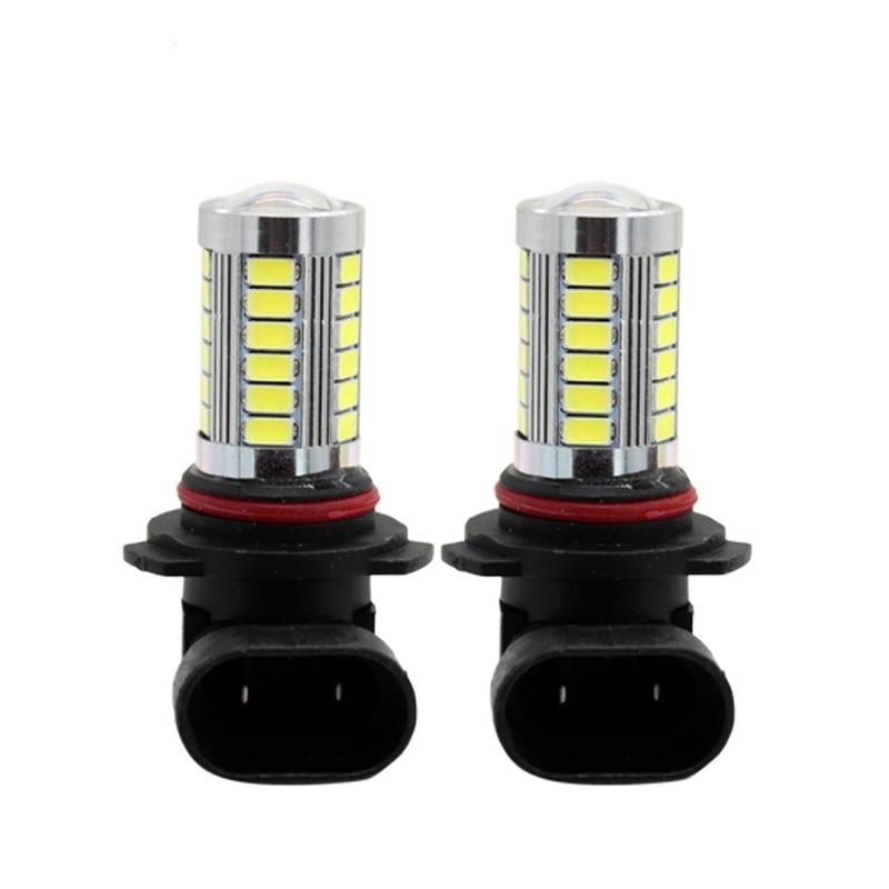2Pcs/Set 9005 HB3 9006 HB4 H8/H11 5630/5730 33 SMD LED Bulbs With Lens Car Headlight  Fog Lamp Light Source Pure White Color