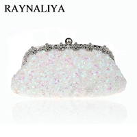 Hot Sale Gold Evening Bag Womens Beaded Sequined Banquet Handbag Clutch Birthday Gift Party Purse Makeup