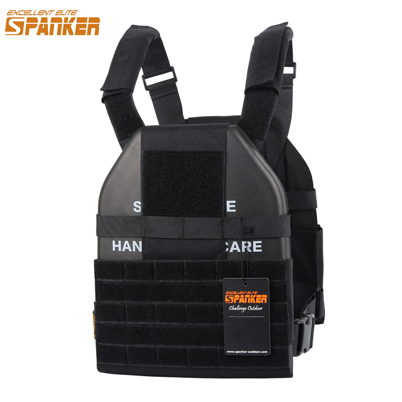 EXCELLENT ELITE SPANKER Tactical Vest Military Molle Hunting Vest Ultra Light Hunting Plate Carrier CS Nylon Military Equipment spanker 1000d camouflage tactical molle tank mechanic chef cooking grilling apron army training hunting waterproof nylon vest