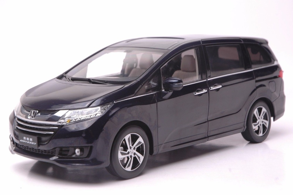 1:18 Diecast Model for Honda Odyssey 2015 Deep Blue MPV Rare Alloy Toy Car Miniature Collection Gifts Van new red1 18 honda crider 2015 diecast model car alloy toy with cristiano ronaldo signature panel included page 5 page 5