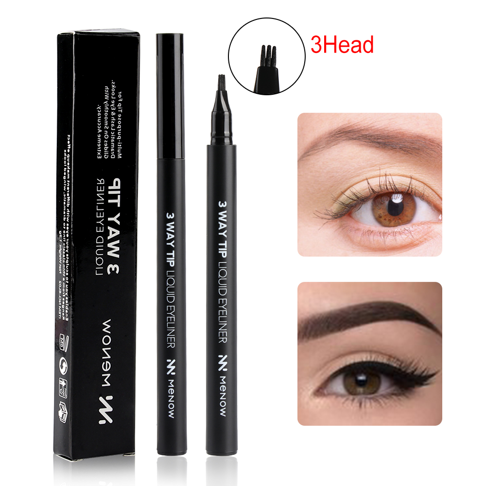 1pc Waterproof3 Fork Tip Fine Sketch Enhancer Eyebrow Tattoo Pen