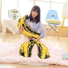 Креативный имитирующий Банан мягкий Qulit Nap Подушка, плюшевые игрушки одеяло на день рождения Рождественский подарок#1266