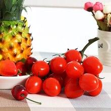 цена на A Bunch Simulation Artificial Cherry Tomato Vegetables Model Foam Plastic Lifelike Fake Artificial Tomato Vegetables Home Party