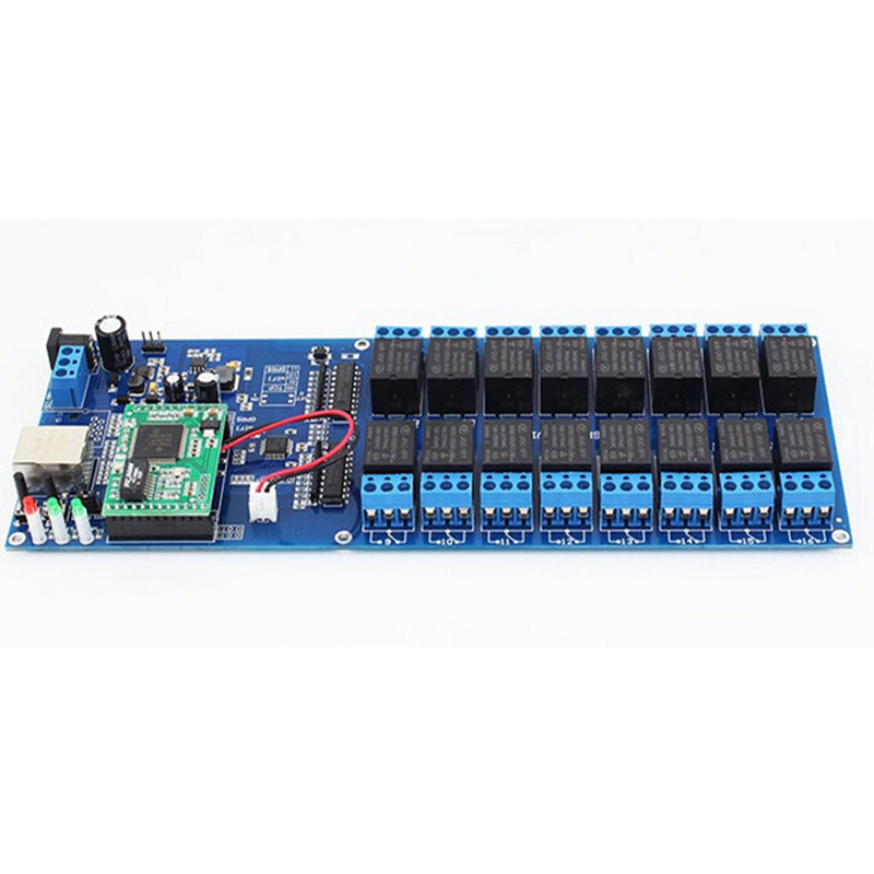 USR-R16-T Free Shipping Industrial Ethernet Network Relay 16 Channel Output Remote Control Switch with TCP/IP LAN Interface New 8 channel relay network ip relay web relay dual control ethernet rj45 interface