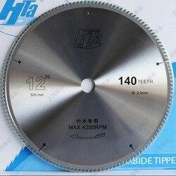 Gratis verzending van super kwaliteit 305*2.0*30/25.4mm * 140Z dunne zaagsnede super sharp tanden vorm TCT zaagblad voor bamboe snijden