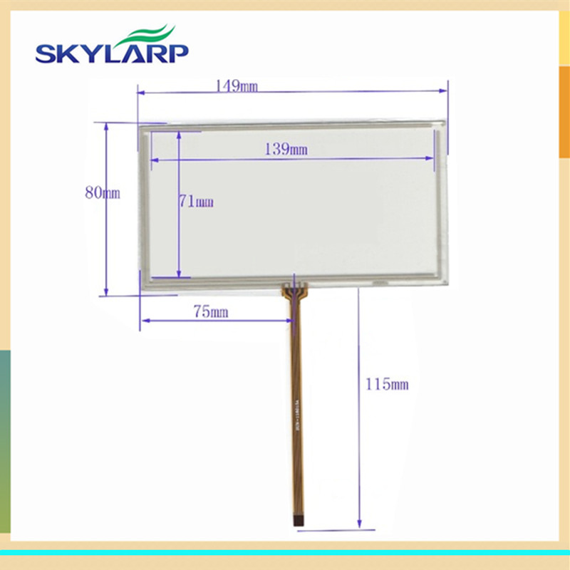 купить skylarpu New 6 inch 149*80mm 4 wire Resistive Touch Screen Panels for 149mm*80mm GPS digitizer panel Repair replacement онлайн