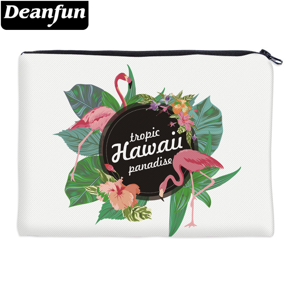 Deanfun Flamingo Cosmetic Bags 3D Printed For Women Sunmer Travel Organizer With Zipper 85027