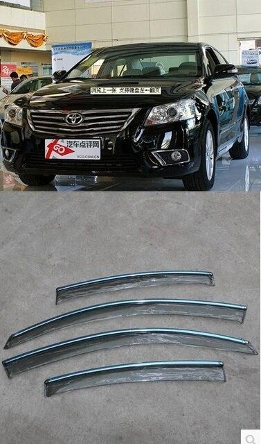 De primera calidad lluvia ventana visera parasol Exterior guarnecido Visor 4 unids para Toyota Camry 2011-2013