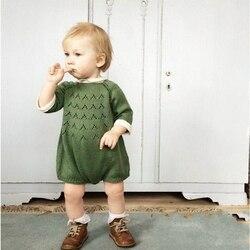 Bodysuit Para O Bebê Meninas Crianças Jumpsuit Roupas de Bebê Menina Roupas de Primavera Camisola Criança Malha Pullover roupas infantis de menina