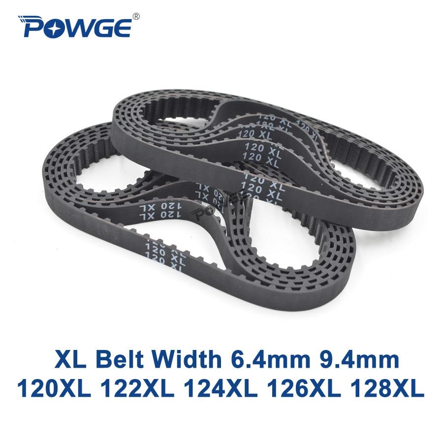 POWGE XL Timing Belt 120/122/124/126/128 Width 025 6.4mm 037 Teeth 60 61 62 63 64 Synchronous Belt 120XL 122XL 124XL 126XL 128XL