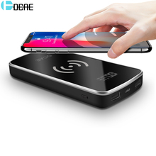 hot deal buy dcae qi wireless charger power bank 10000mah dual usb digital display external battery power bank for iphone x 8 samsung s9 s8