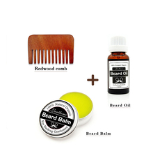 Male Facial Beard Oil Beard Care Products Redwood Comb Beard Balm Beard Oil set F