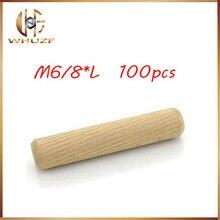 Установочный штифт cavilha 100 шт за лот 6 диагональных/8 мм Диаметр деревянная круглая мебельные фитинги деревянный штифт