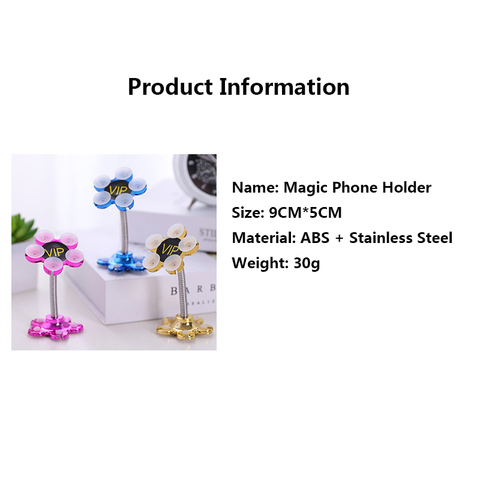 Sucker Stand Phone Holder 360 degree Rotatable Magic Suction Cup Mobile Phone Holder Car Bracket Smartphone Tablets Holder Karachi