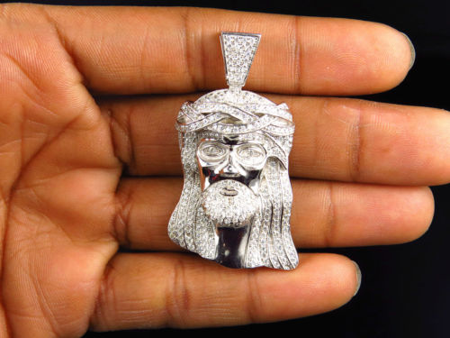 2016 hip hop bling jewelry,iced out king mens luxury jewelry cool jesus head pendant necklace with bead chain box chain 60cm simulated diamonds 70mm big pendant jesus pendant christ the redeemer bling hip hop mens necklace