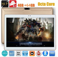 Tablet PC 10 inch Octa Core Android 5.1 4GB RAM 64GB ROM 8 Cores 1280*800 IPS Kids Gift MID GPS tablet Free Shipping