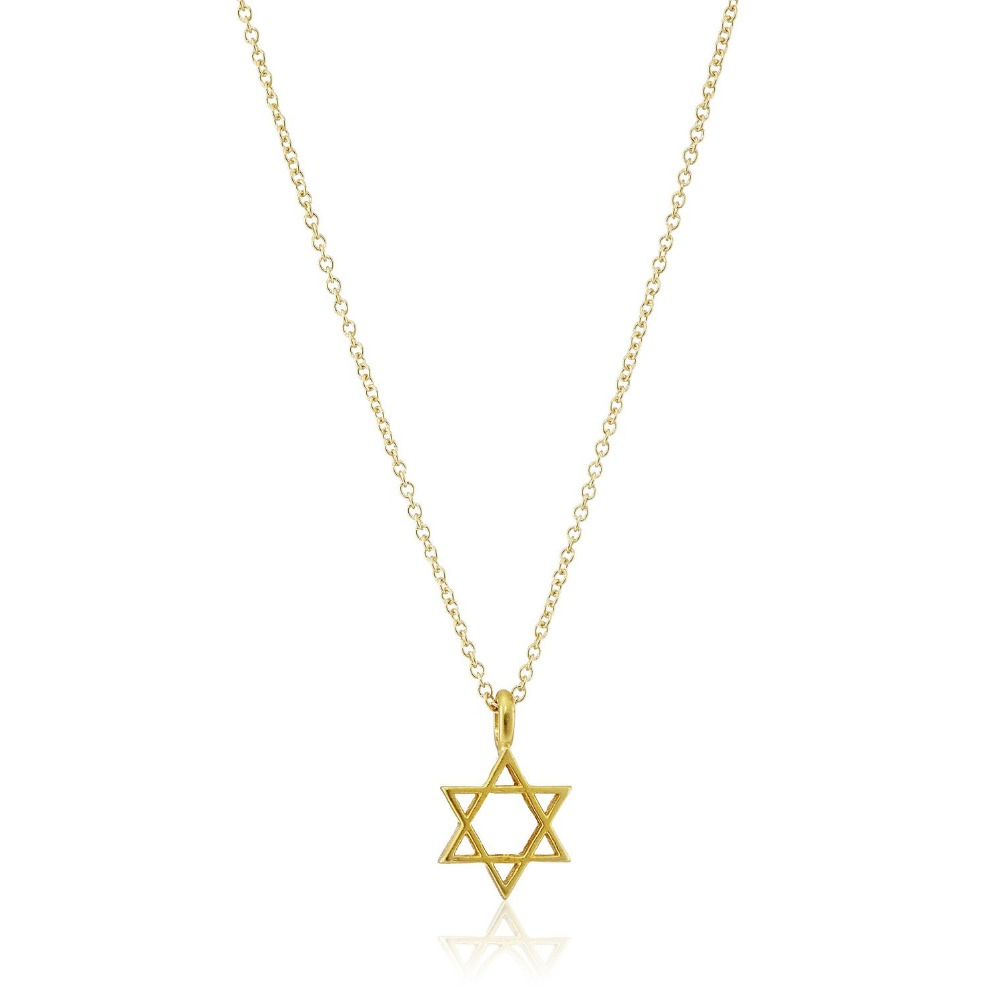 yellow david pendant jewish necklace gold star the pendants and magen img of charms
