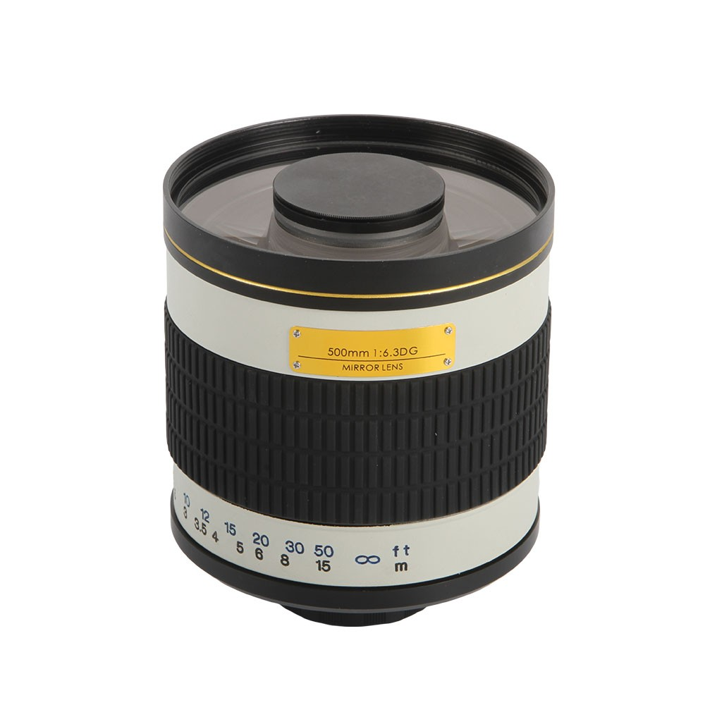 500mm F/6.3 Telephoto Mirror Lens + T2 Mount Adapter Ring for Canon Nikon Pentax Sony Olympus DSLR 3
