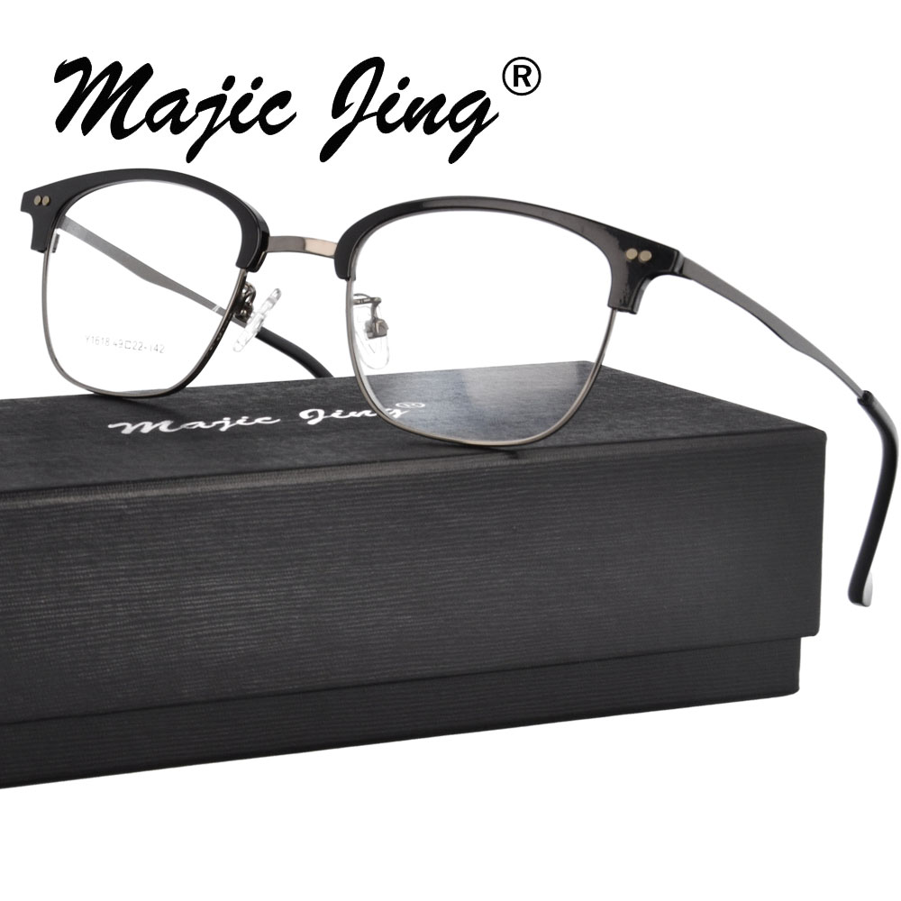 Magic Jing    stainless steel prescription spectacles RX optical - Apparel Accessories