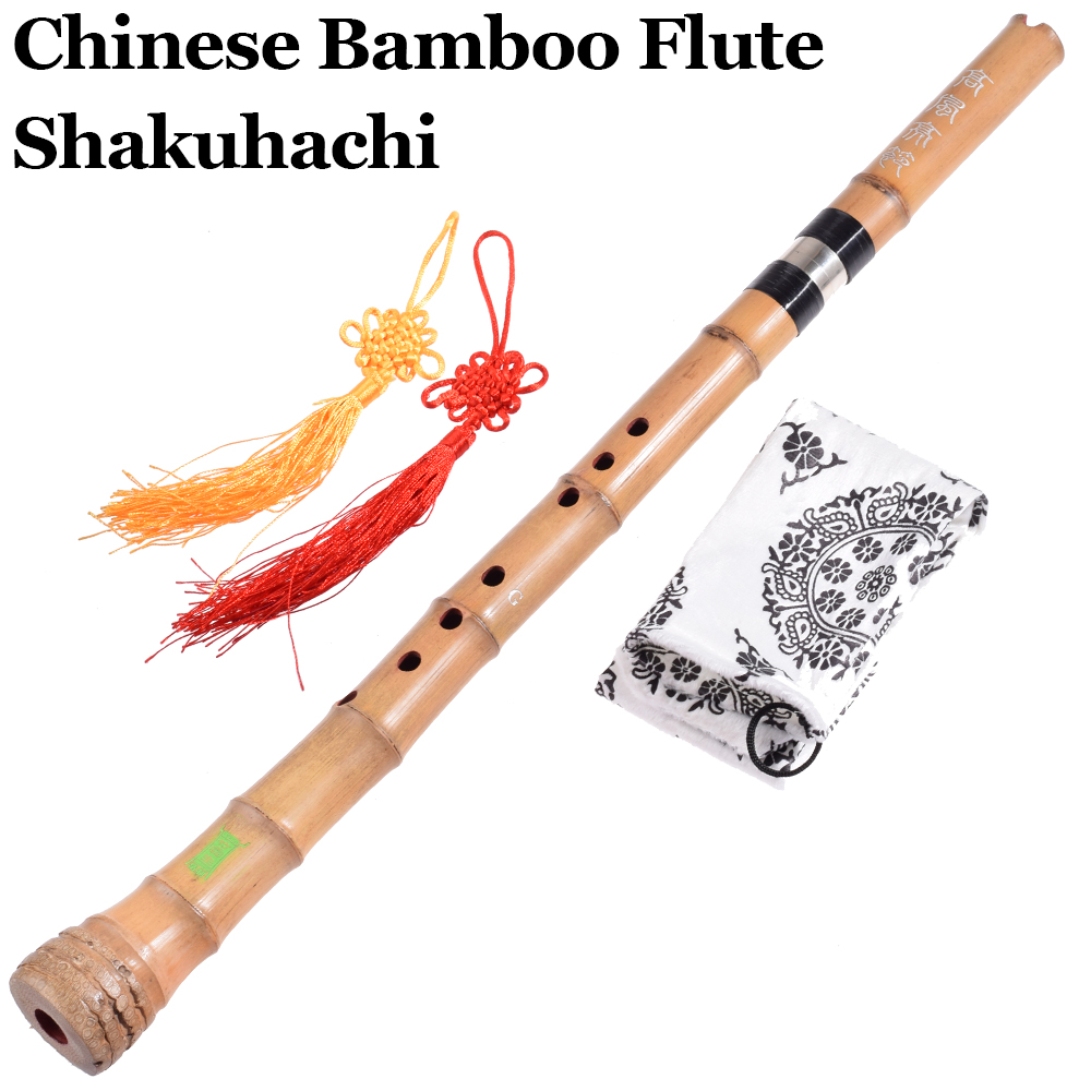 цена на Chinese Bamboo Flute Shakuhachi Traditional Woodwind Musical Instrument Vertical Bambu Flauta Nan Xiao G/ F key 8 hole Beginnger