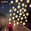 LED Crystal Glass Ball Pendant Light G4 AC110V 220V 80mm 100mm Diameter Restaurant Stair Bar Cafes