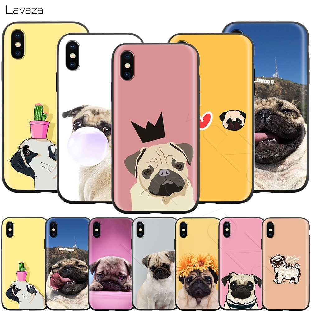 Lavaza สัตว์น่ารัก Pug Dog สำหรับ iPhone 11 Pro XS Max XR X 8 7 6 6S Plus 5 5s se