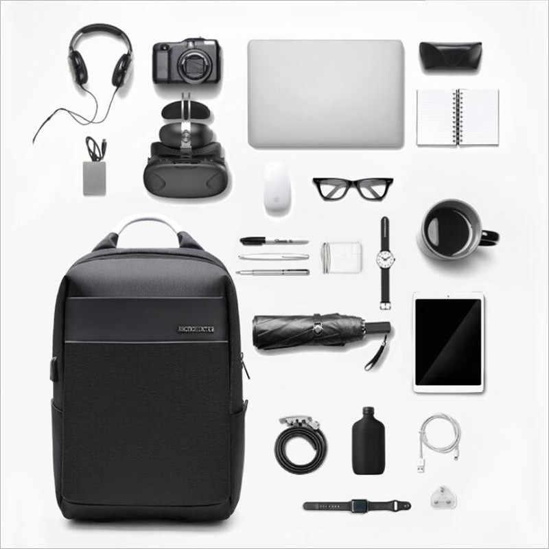 Caçador ártico Novo Anti-ladrão Homens Da Moda Mochila Multifuncional Bolsa Para Laptop Homem Saco de Viagem de Carregamento USB À Prova D' Água de 15.6 polegada