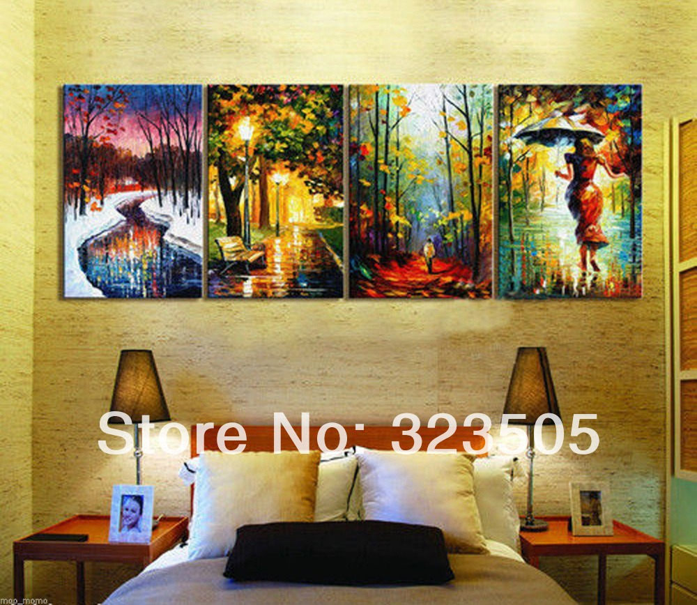 MUYA abstract oil painting acrylic painting palette knife landscape ...