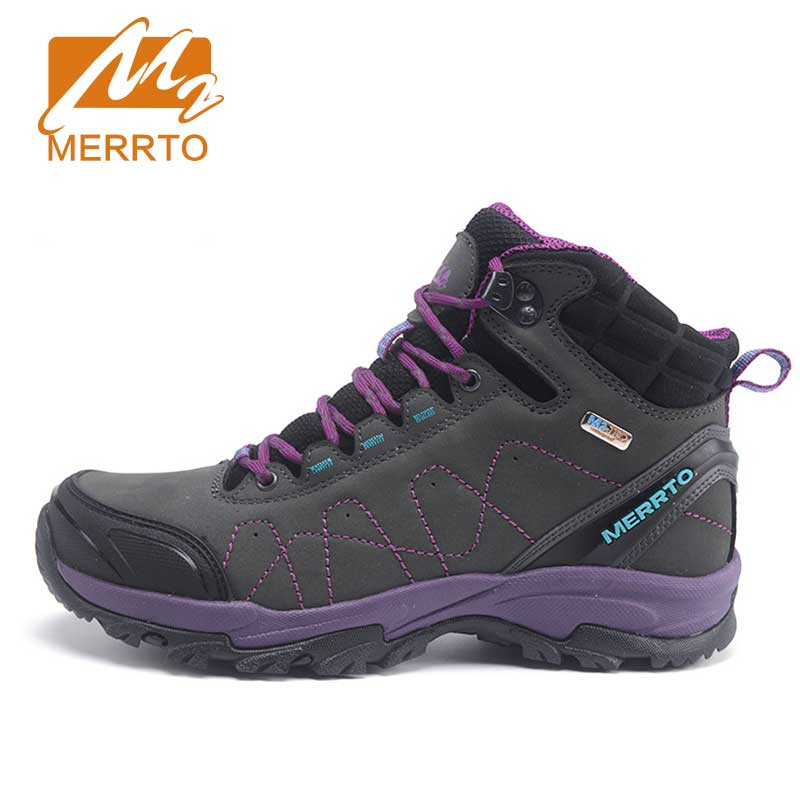 ФОТО MERRTO Women's Waterproof Walking Shoes Skidproof Sneakers Breathable Trekking Inner Fleece Shoes High Quality Boost#18629-18637