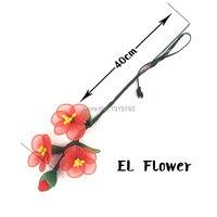 Mit DC3V Konverter Neon EL Draht Pflaumenblüte Blume für Engagement Requisiten Led-Licht Festival Lichter Hana Geburtstag Party Decor
