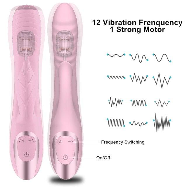 Double penetration AV Vibrator sex toys for woman with nipple clitoris sucker G spot dildo for adult Vaginal masturbator 5