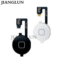 JIANGLUN Home Button Flex Cable Gasket Assembly Menu Key For iphone 4S 4GS Black/White