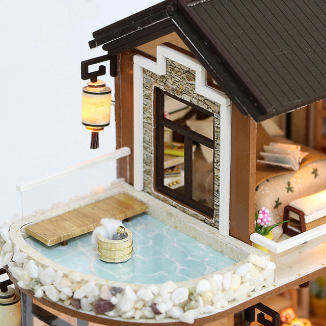 Vintage 3D DIY Wooden Doll House with Furniture