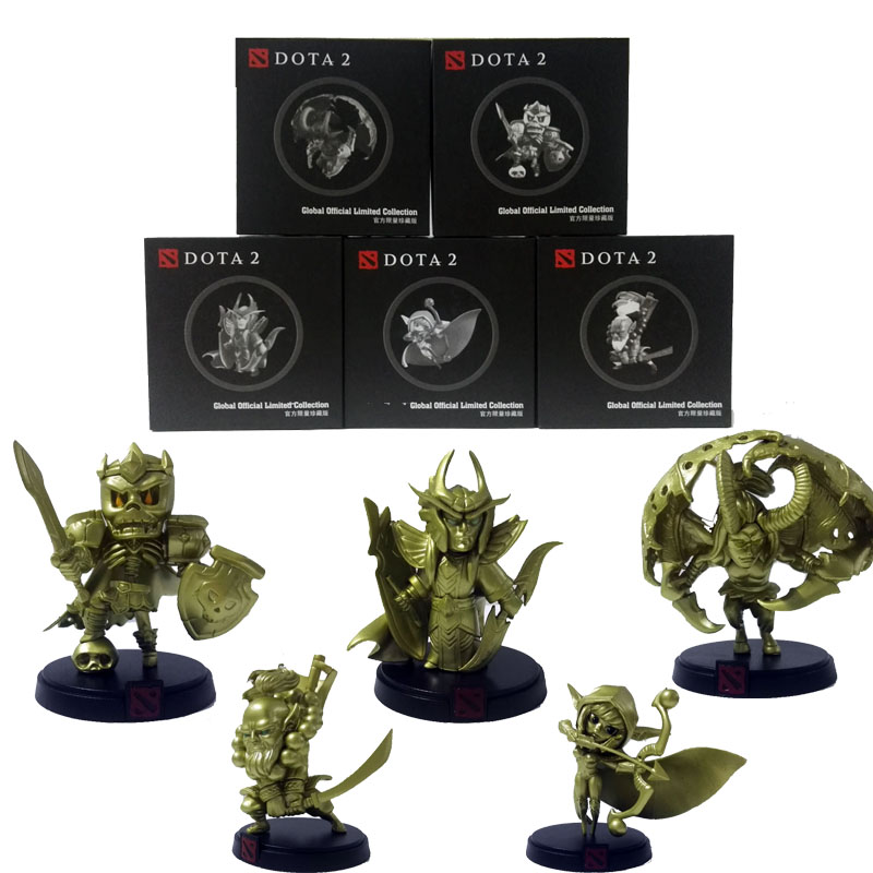 Or Dota 2 jeu 5 pièces/ensemble SNK Windranger Juggernaut âme garde Silence modèle Figure PVC Collection dota2 jouets décoration cadeau