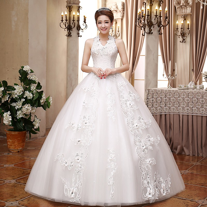 Real Photo Grils Wedding Dress 2017 New Korean Classic