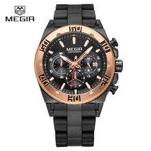 Montre de MEGIR hommes Top marques De Luxe chronographe sport montres de mode lumineux running man quartz montre-bracelet Relogio Mascu 3009