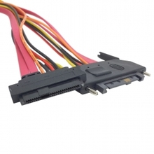 50pcs / lots SFF-8482 SAS Cable 29Pin Male to Female Hard Disk DRIVE EXTENSION Cable 50cm , Free shipping By Fedex