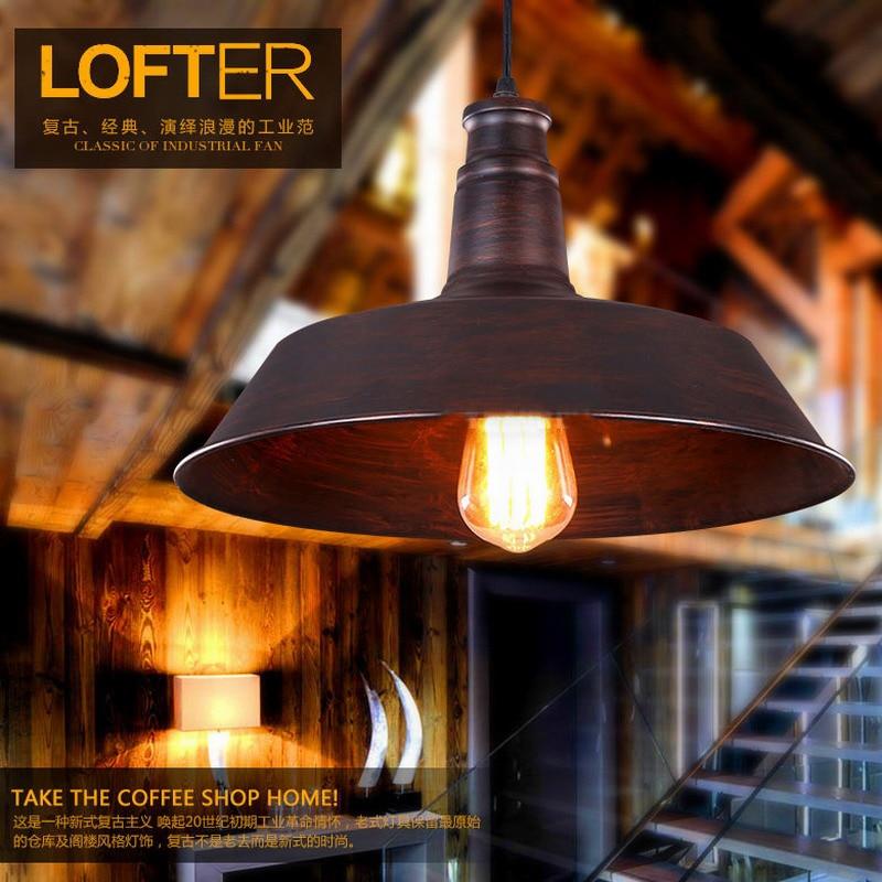 Loft Retro Industrial Hanging Hardware Lighting Lights Metal Pendant Lamp Illumination For Kitchen/bar Coffee Light Fixtures