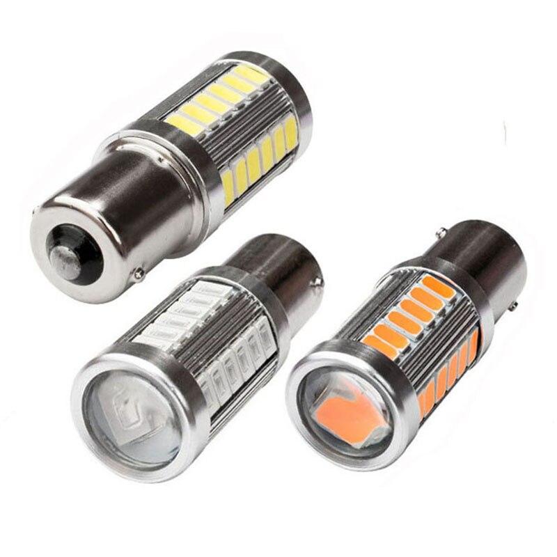1156 BA15S BAU15S BAW15S BAY15S 33 SMD 5630 Светодиодный, белый, красный, желтый, 12 В, автомобильный, P21W, PY21W, PR21W, стоп-сигнал