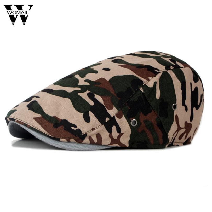 2017 cap men beret Cotton Gatsby Cap Mens Ivy Hat Golf Driving Summer Sun Flat Cabbie Newsboy hats for men