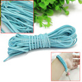 1 Roll Suede Leather String Cord For Bracelet Necklace DIY Making Lake Blue