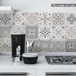 Funlife Moroccan Tiles Decal Stickers Decorative Furniture-Decor Adhesive Wall-Art Bathroom